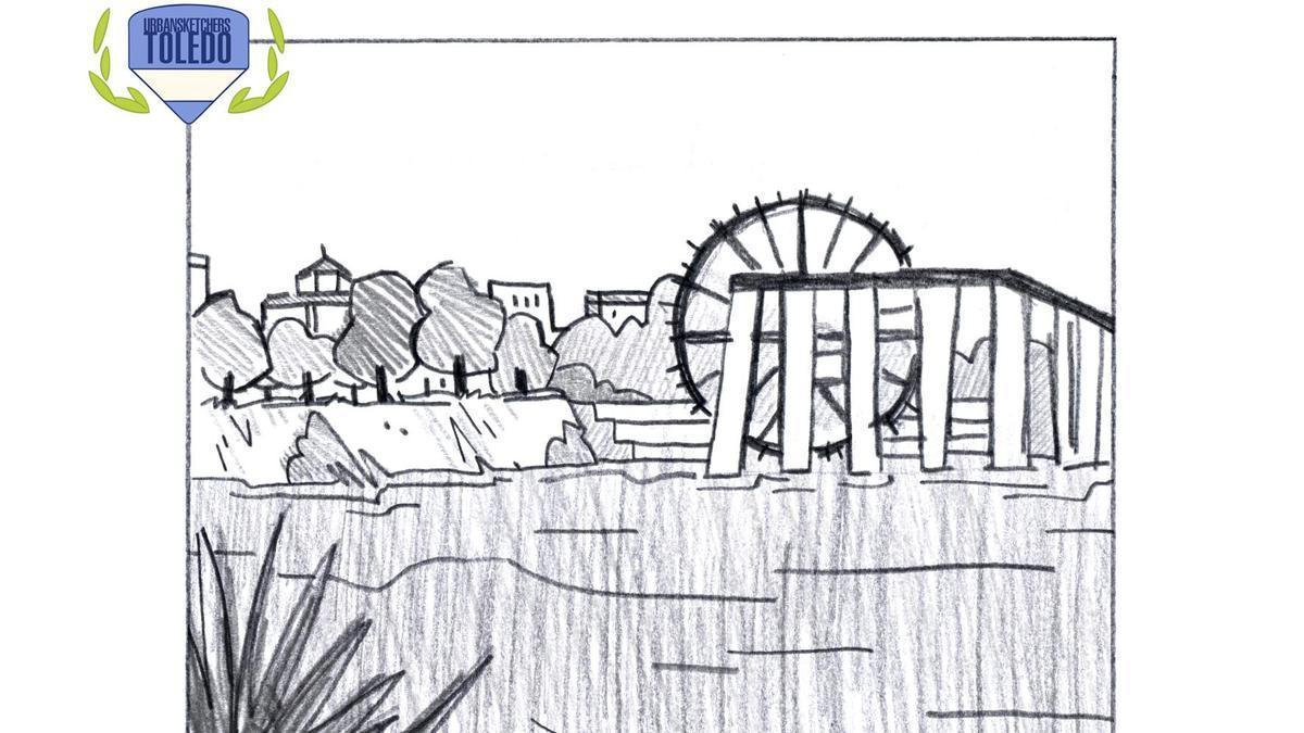 Urban Sketchers Toledo propone reivindicar el río Tajo a través del dibujo