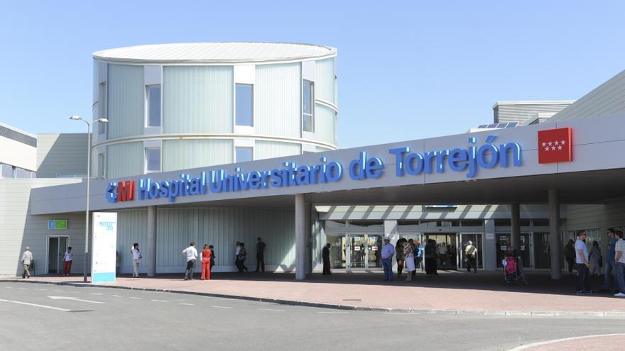 Entrada del Hospital Universitario de Torrejón de Ardoz.