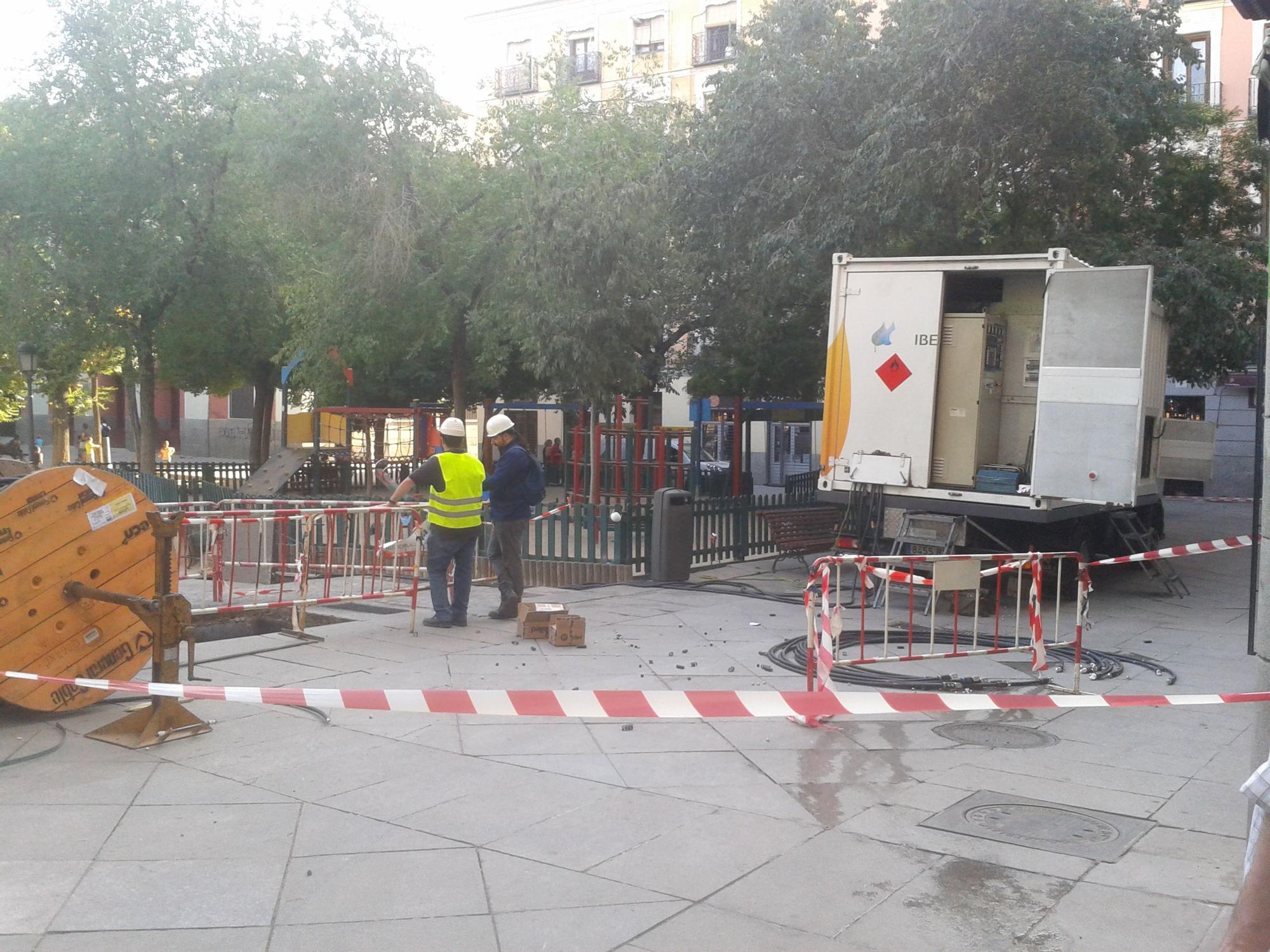 Plaza acordonada por el incendio | ACIBU