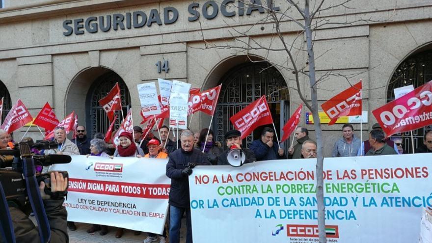 Protesta en Cáceres / @ccoo_ext