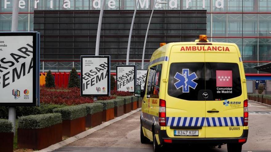 Madrid suma 345 muertes y 3.777 contagios en 24 horas, con 6.326 curados