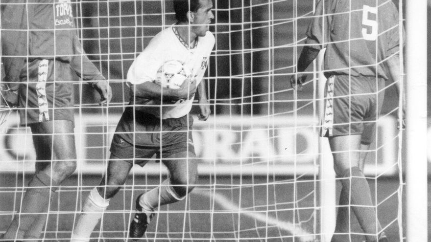 Quique Estebaranz, cuando era jugador del CD Tenerife.
