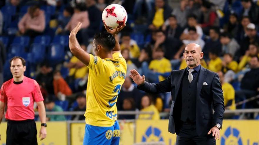 El entrenador de Las Palmas, Paco Jémez, en el partido ante el Valencia.