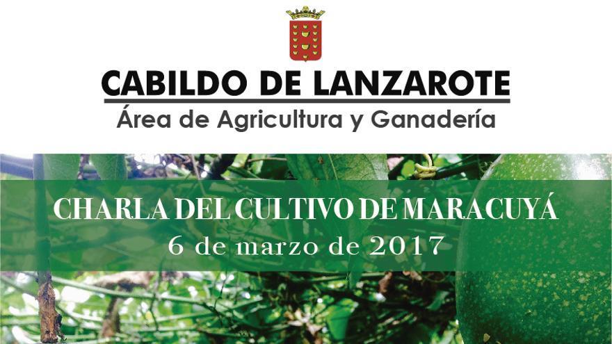 Cartel de la 'Charla sobre el cultivo de maracuyá'.