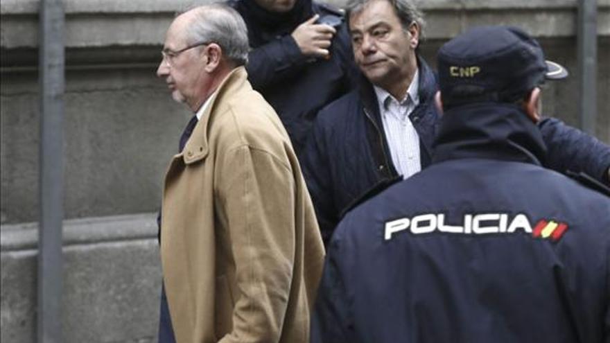 Rodrigo Rato llega a la Audiencia Nacional para declarar como imputado / EFE