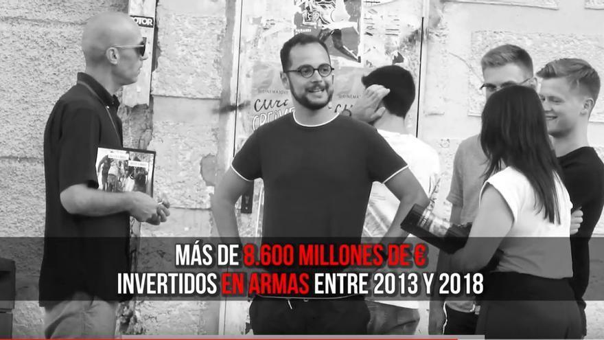 Uno de los momentos del vídeo con cámara oculta grabado en Valencia.