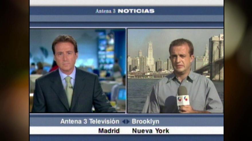 Matías Prats y Ricardo Ortega, informando el 11-S