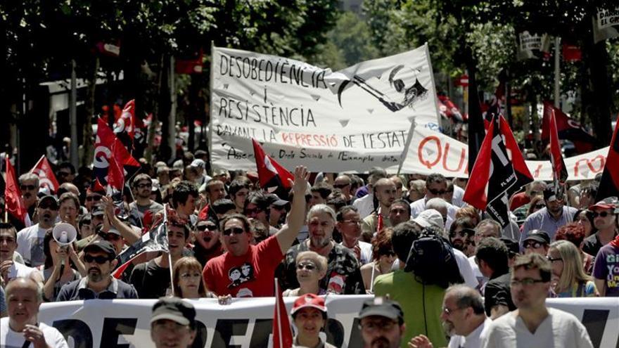 Imagen de la manifestación del día de la huelga.