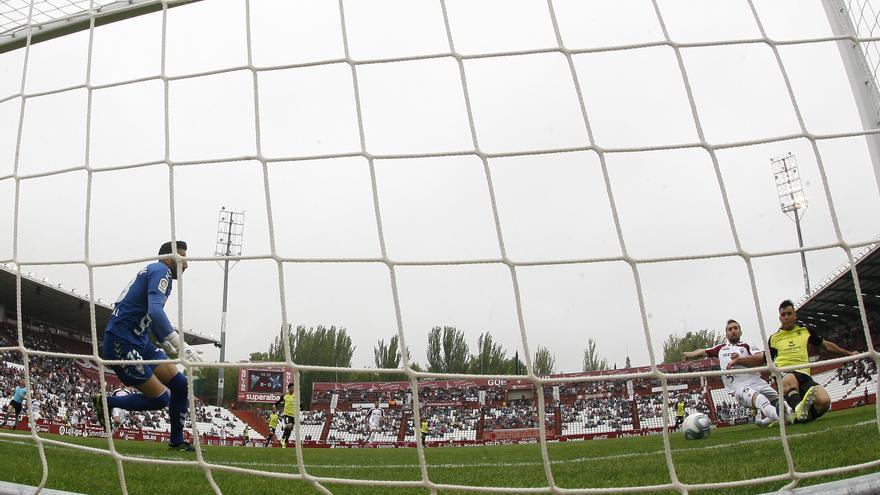 El 0-1 del domingo en el Carlos Belmonte de Albacete obra de Alex Bermejo.