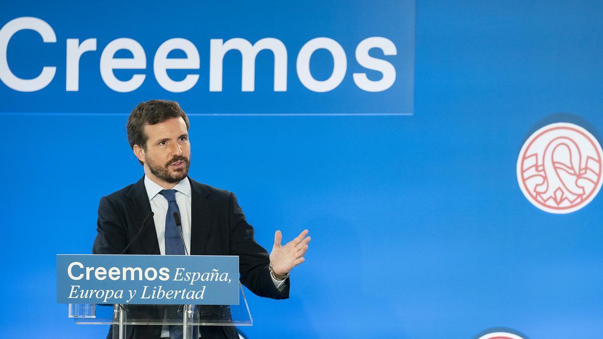 El líder del Partido Popular, Pablo Casado.