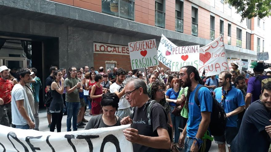 Manifestación a favor de Fraguas