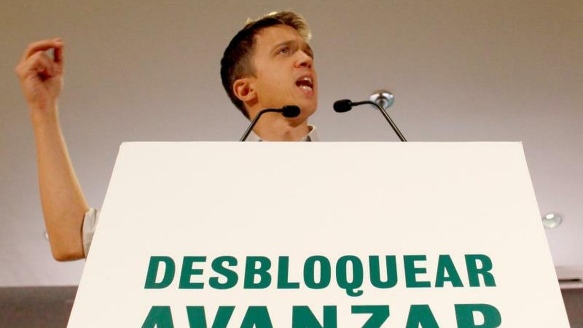 Errejón durante un mitin en la campaña para las elecciones generales de 2019