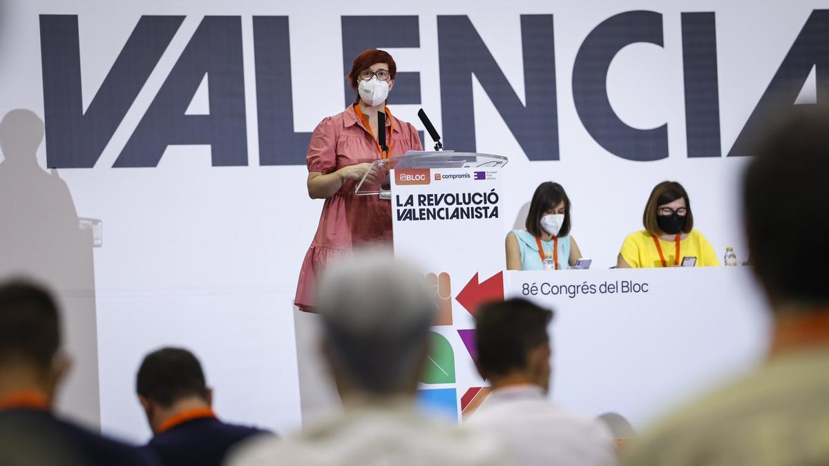 Àgueda Micó detalla el informe de gestión como coordinadora del Bloc.