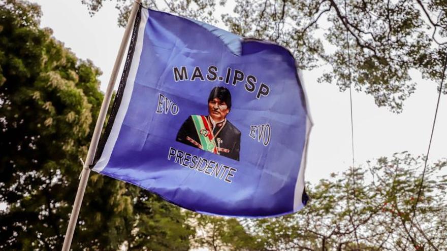 La izquierda paraguaya se concentra en solidaridad con Evo Morales
