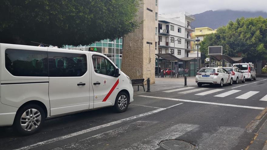 Parada de taxis de Los Llanos de Aridane.
