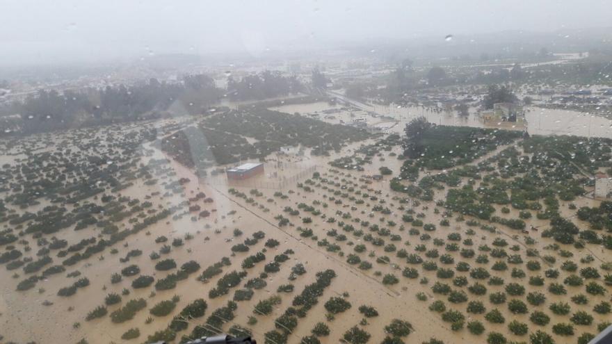 Asaja prepara el protocolo para indemnizaciones por inundaciones en cultivos de Málaga