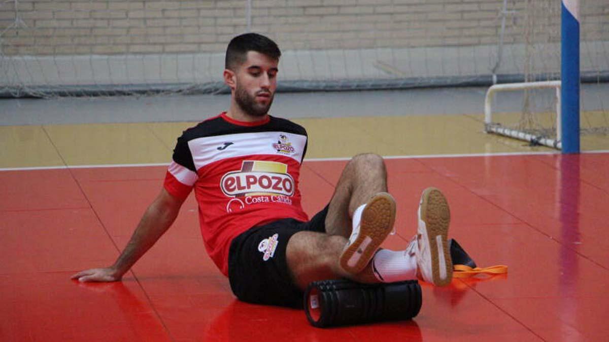 Ismael López, en un entrenamiento de ElPozo Murcia