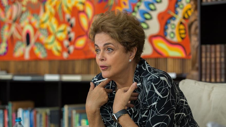 Dilma Roussef durante la entrevista concedida a Agencia Pública. José Cícero da Silva–AgênciaPública