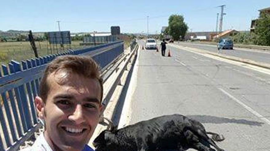 El torero Sergio Blasco en una 'selfie'. Foto: Sergio Blasco | Facebook