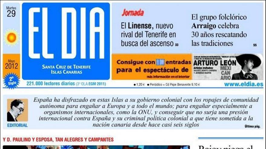 De las portadas del día (29/05/2012) #4