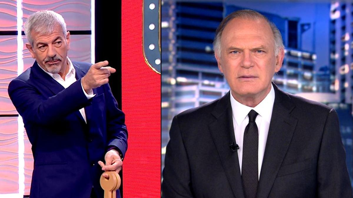 Carlos Sobera y Pedro Piqueras