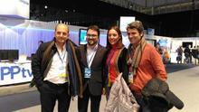 Juan José Cardona, Asier Antona, Cristina Tavío y Enrique Hernández Bento, candidatos a presidir el PP canario. (CEDIDA POR EL PP)