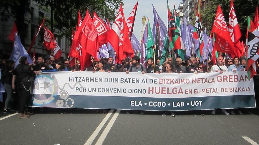 Trabajadores del Metal de Bizkaia están convocados este jueves a secundar la cuarta jornada de huelga