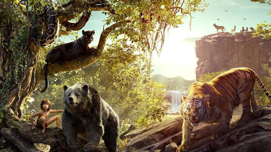 En 'El libro de la selva' las acciones de Mowgli se rodaban en realidad en un croma