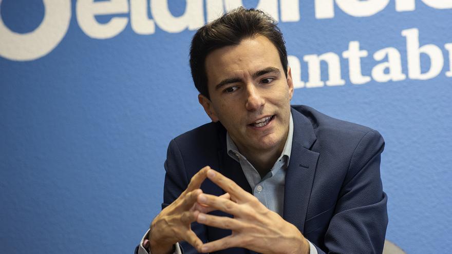 Casares, durante la entrevista concedida a eldiario.es.