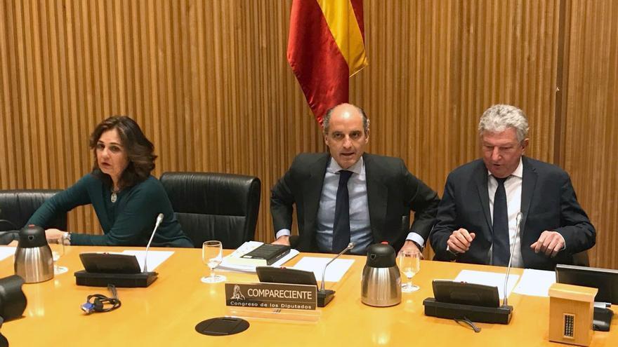 Francisco Camps comparece en la comisión de investigación por la financiación ilegal del PP en el Congreso