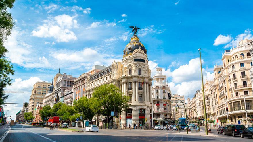 El edificio Metrópolis, situado entre las calles Alcalá y Gran Vía.
