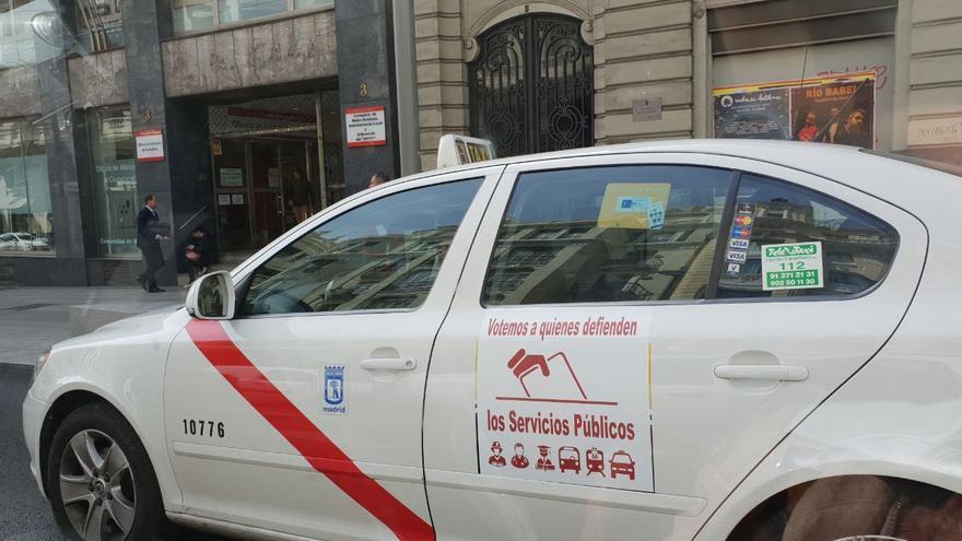 Un taxi en Madrid con otra campaña propia