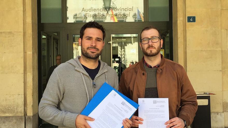 Gerard Fullana y Josep Bigorra a las puertas de la Fiscalía Antocorrupción