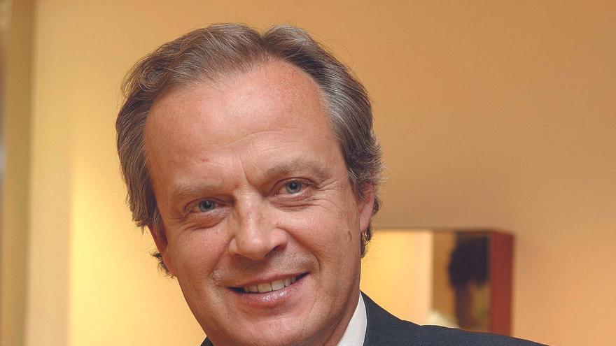 El candidato a la presidencia de la patronal madrileña Hilario Alfaro.