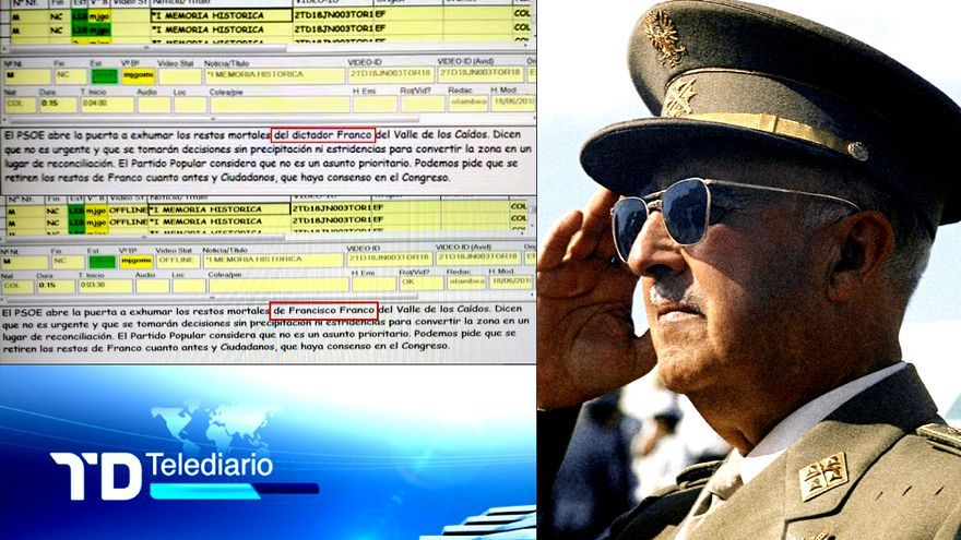 Cuando Franco dejó de ser dictador y otros 69 nuevos casos de manipulación de la dirección saliente en TVE