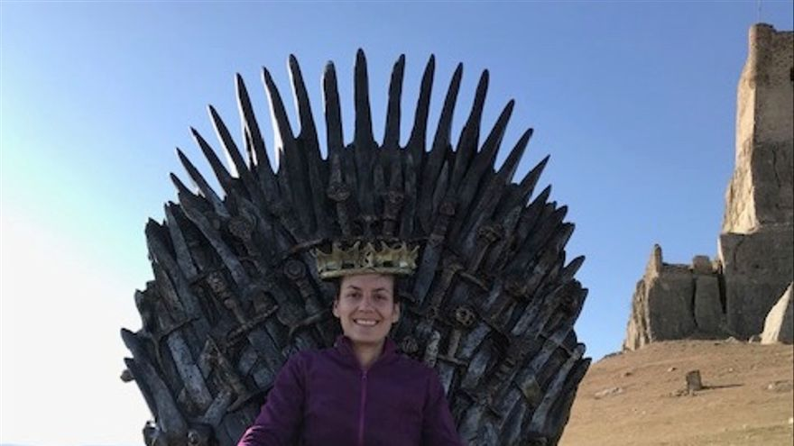 Patricia fue la primera persona que llegó al Trono de Atienza (Guadalajara) FOTO: HBO España