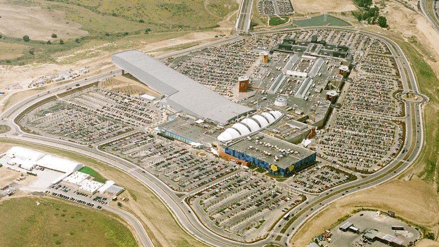 Vista aérea del macrocentro comercial Xanadú en Arroyomolinos (Madrid). Foto: Ivanhoé Cambridge
