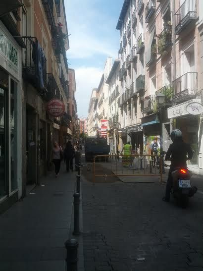 Hoy continúan los trabajos en Corredera Alta de San Pablo | Foto: Somos Malasaña