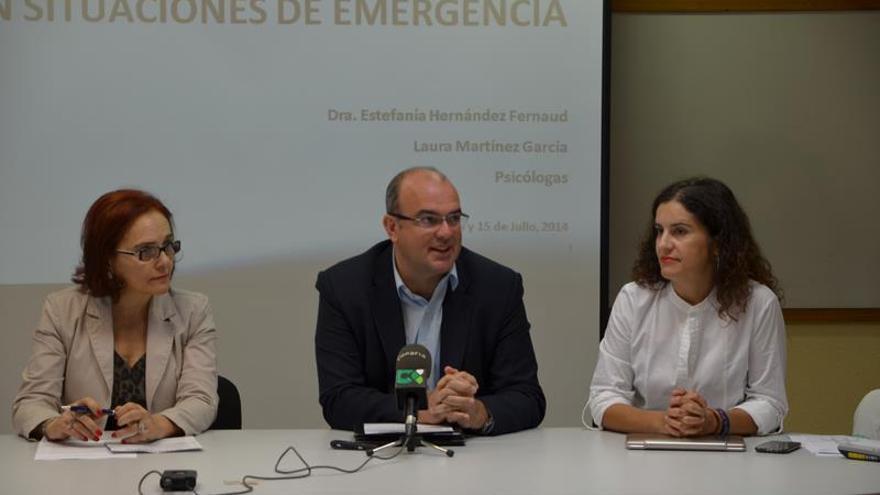 Nélida Rancel, Anselmo Pestana y Jovita Monterrey, este lunes en la Casa Rosada.