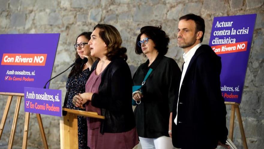 Colau, en la presentación de la candidata de los 'comuns' al Senado Rosa Lluch