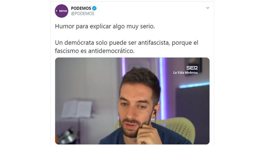 El tuit de Podemos con Broncano
