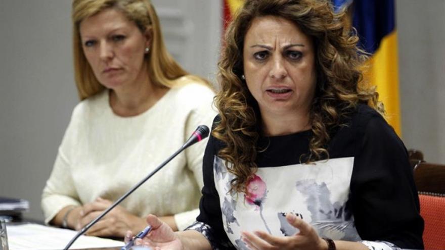 Cristina Valido, durante su comparecencia este viernes
