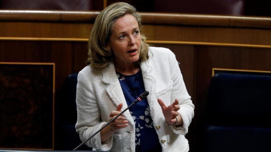 La vicepresidenta tercera y ministra de Asuntos Económicos, Nadia Calviño.