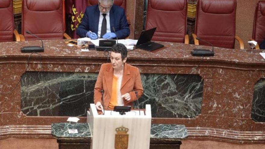 María Marín, este miércoles, en la Asamblea regional
