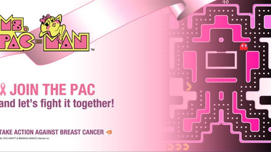 Ms.Pac-Man Pink Ribbon Campaign