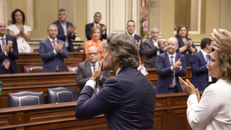 Gustavo Matos, tras ser elegido presidente del Parlamento de Canarias