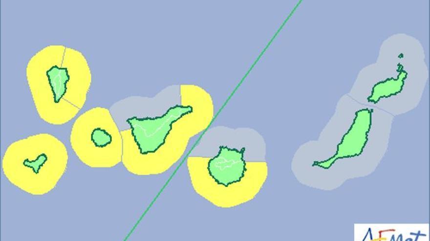 Previsión de la Aemet en Canarias para este miércoles, 12 de agosto de 2015.