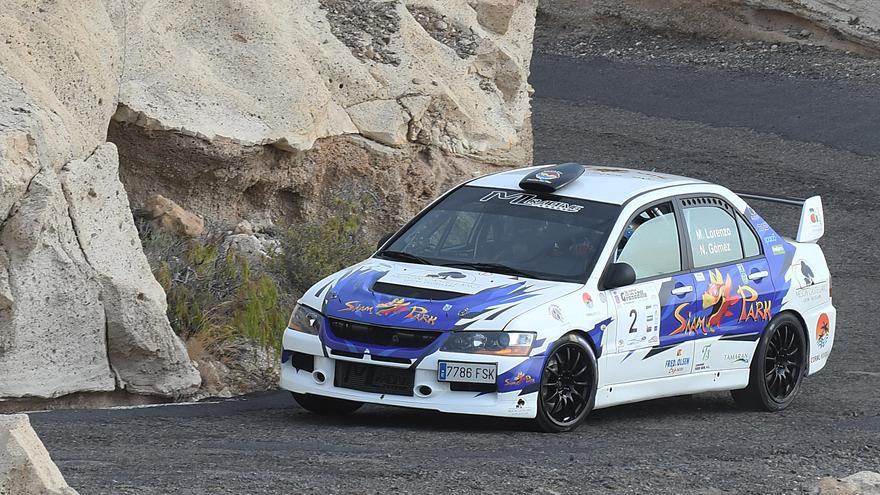 Imagen de archivo de un tramo del Rallye La Palma Isla Bonita.