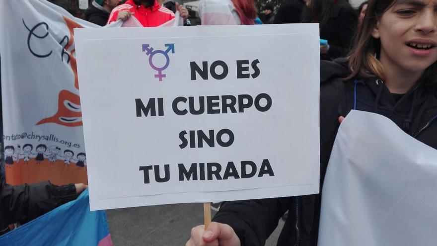 Concentración en Madrid el pasado 25/03/2017 en el que las familias pedían una Ley estatal