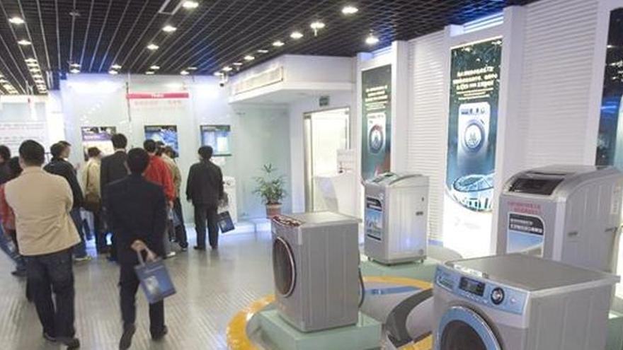 Exposición de electrodomésticos.